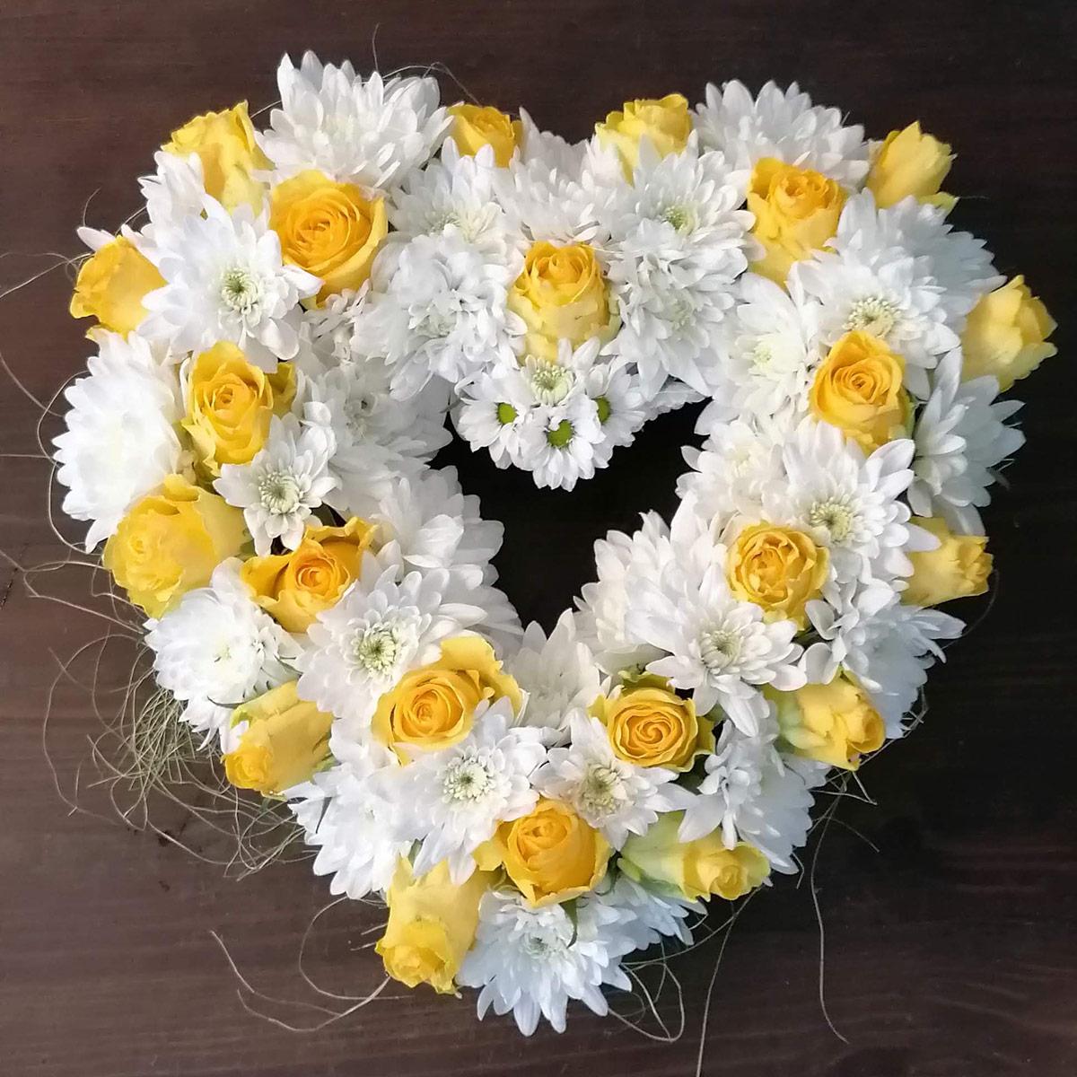 Blumenherz gelbe Rosen