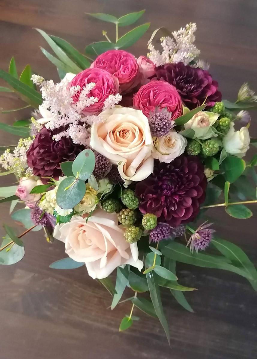 Brautstrauss rosa lila Rosen