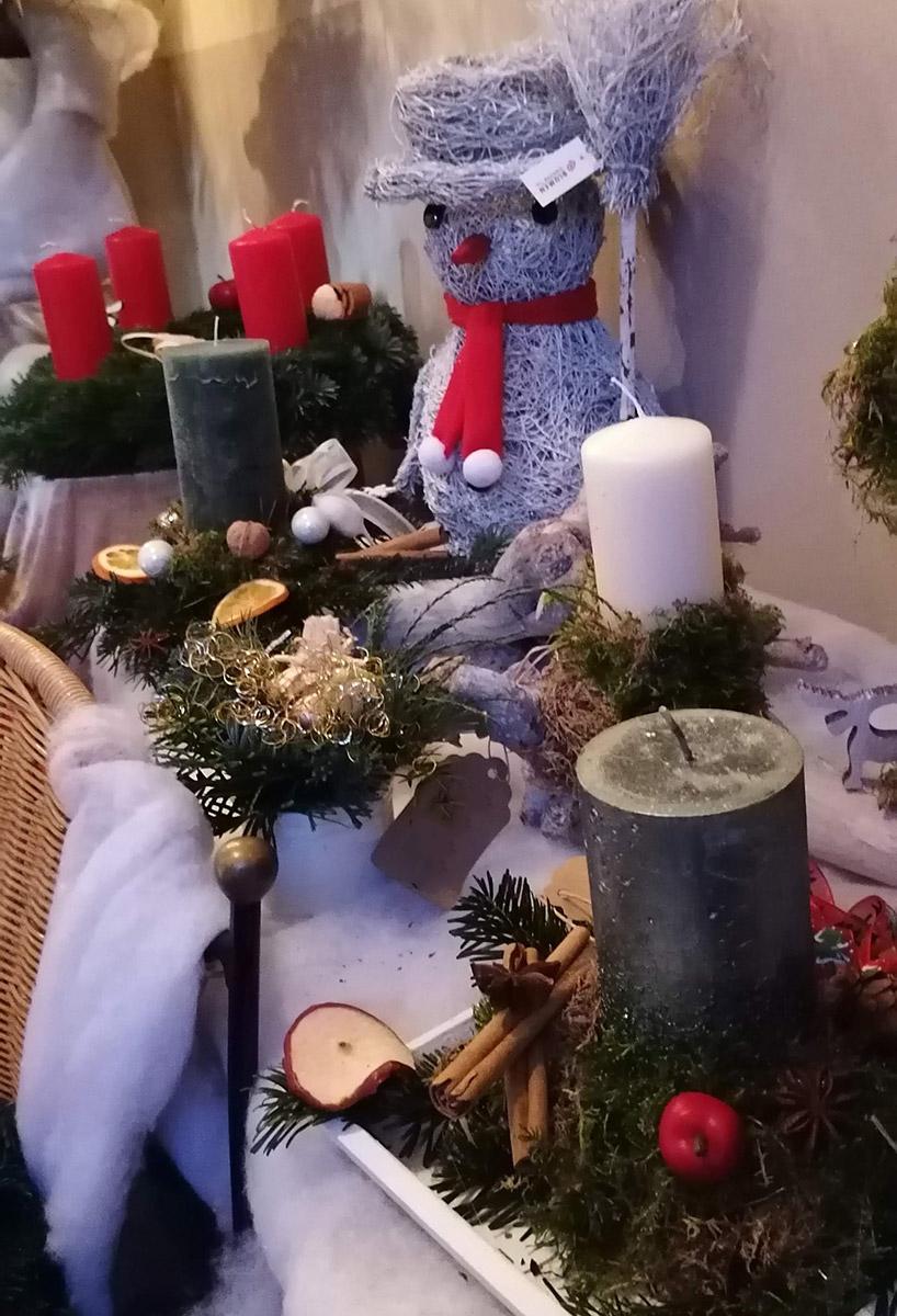 Holz Schneemann Weihnacht Deko