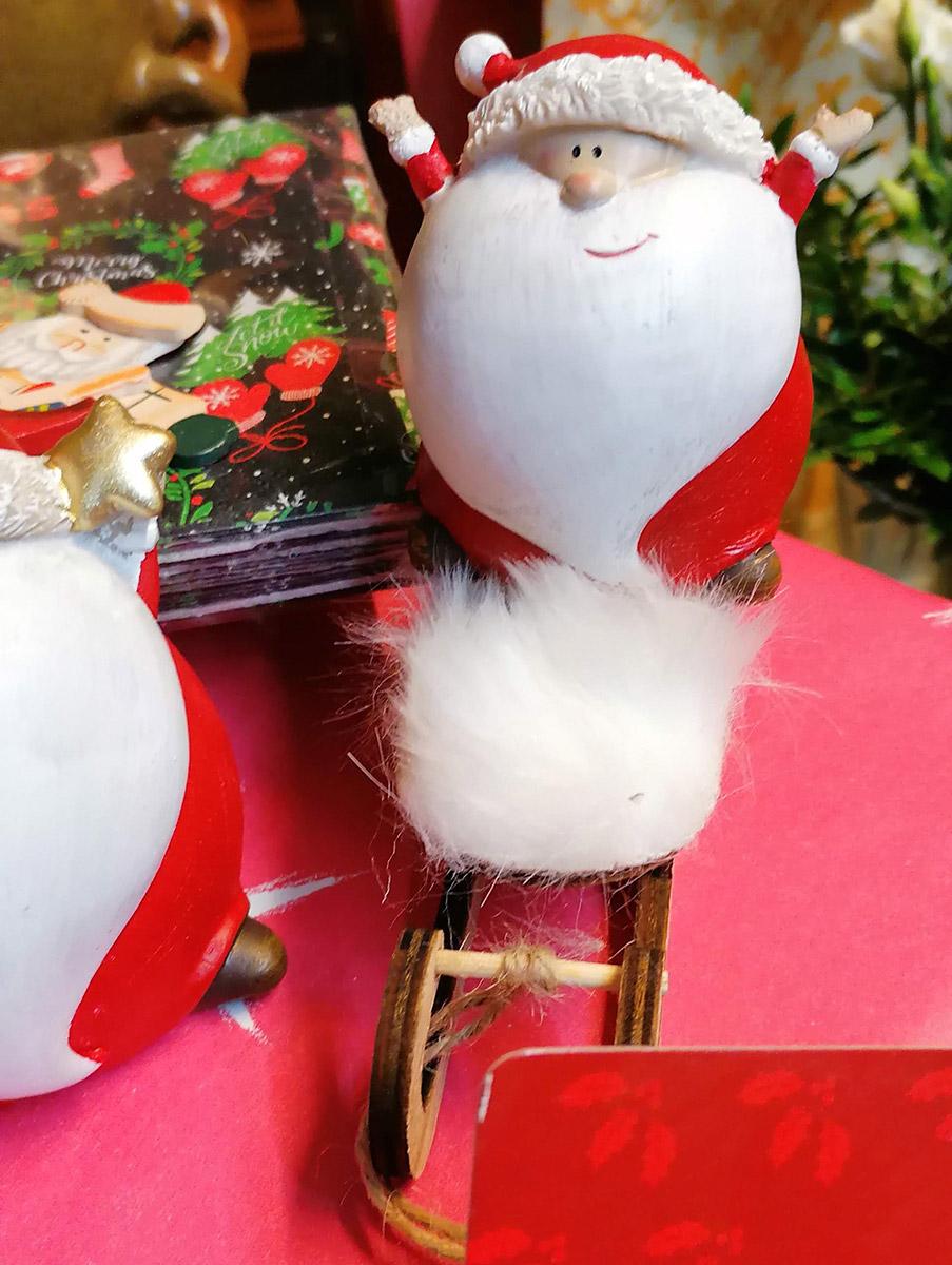 Keramik Weihnachtsmann Dekoration