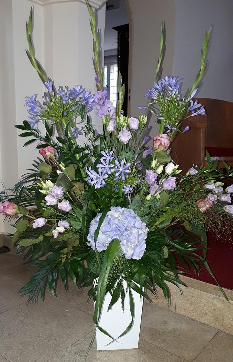 Kirchenhochzeit Blumentopf