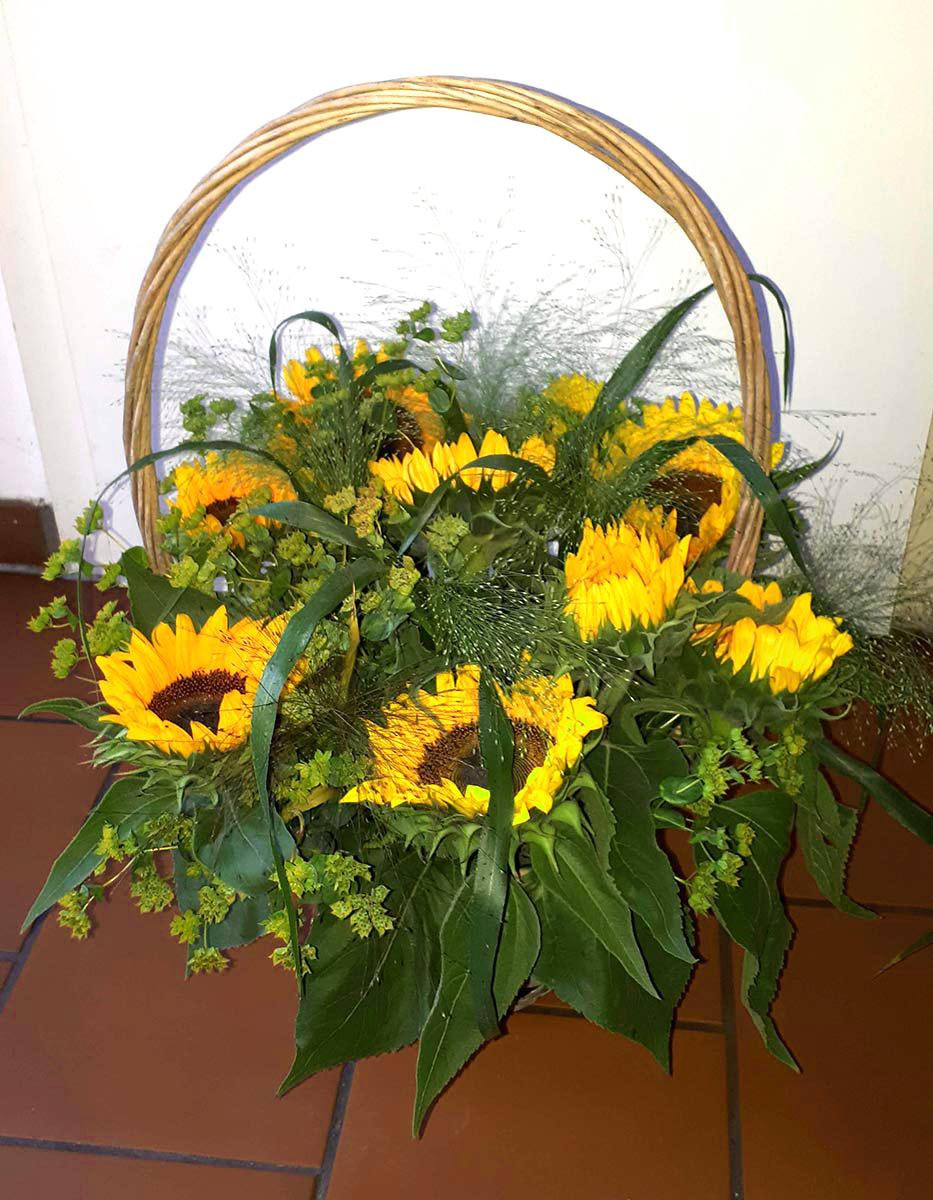 Sommer Sonnenblumen Korb