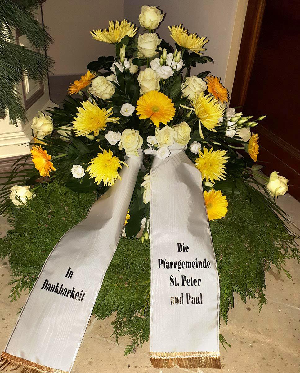 Trauer Beisetzung Grabkranz