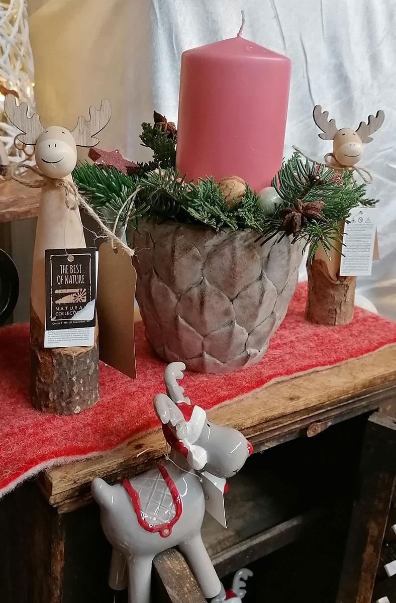 Weihnacht Christfest Deko Rentiere Kerzenstaender