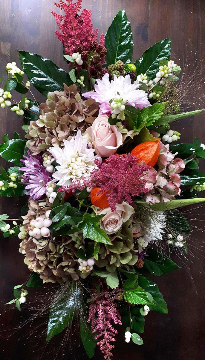 bunte Blumen Tischgesteck